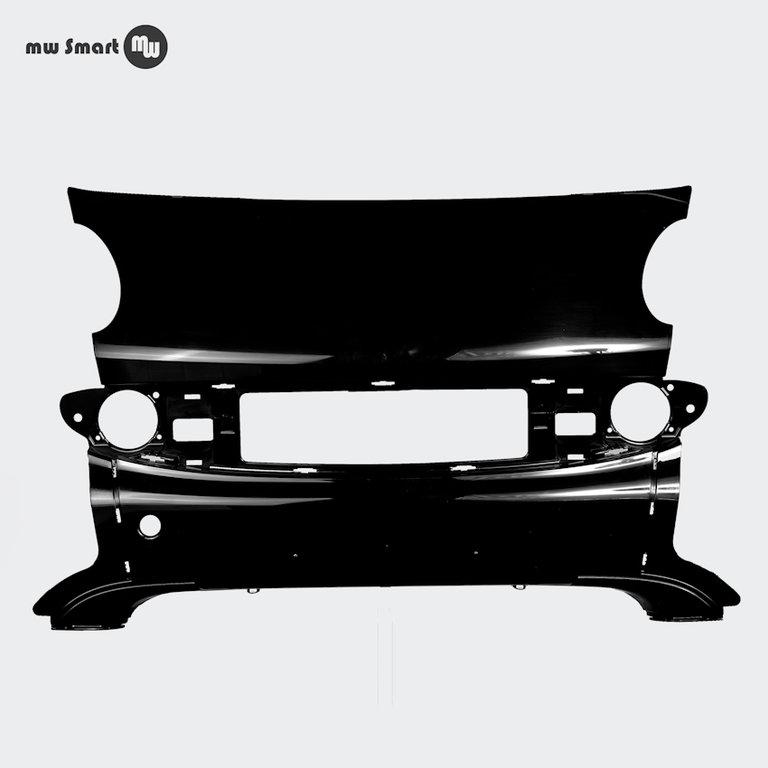 frontmittelteil smart 450 coupe facelift schwarz durchgef rbt. Black Bedroom Furniture Sets. Home Design Ideas